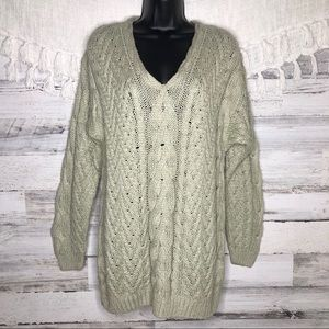 Vintage silk cable knit chunky sweater